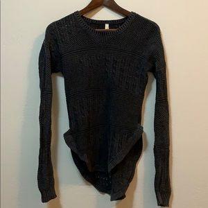 RVCA Grey Long Cozy Sweater